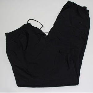 Pants - Black windbreaker joggers